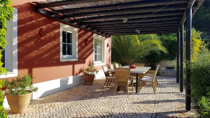 covered terrace, Al fresco dining Holiday home, vakantiehuis Algarve