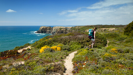 hiking Algarve coast, Parc Natural, Wandern, wandelen