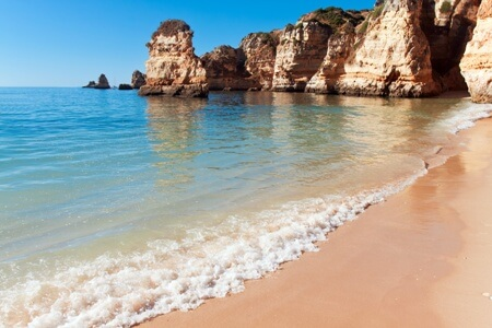 Lagos beach, ocean Algarve coast